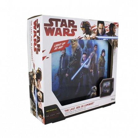 Lampa lenticulara - Star Wars The Last Jedi 3D Luminart