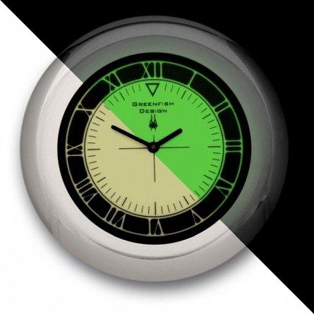 Suport pahar cu ceas fosforescent Midnight Pebble Roman