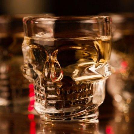 Pahare de shot forma Craniu, 4buc - Hoot! Skull Shot