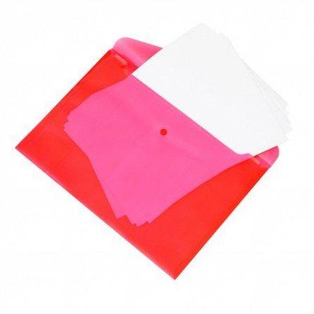 Mapa A4,plastic,cu buton,Kunst,rosu