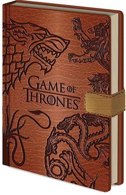 Caiet A5 Clasp Game Of Thrones - Sigils Premium