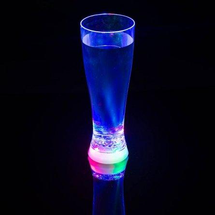 Pahar iluminat Strobing Beer, LEDuri, 568ml, plastic