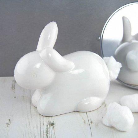 Dispensor de vata ceramic - Iepuras Cotton Tail