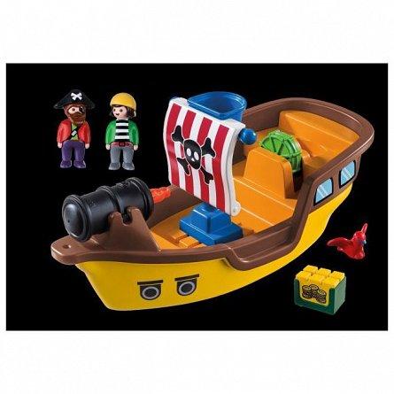 Playmobil-1.2.3.Barca piratilor