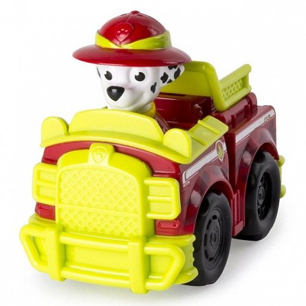 Masina de pompieri Jungle Rescue cu figurina,Paw Patrol,Marshall