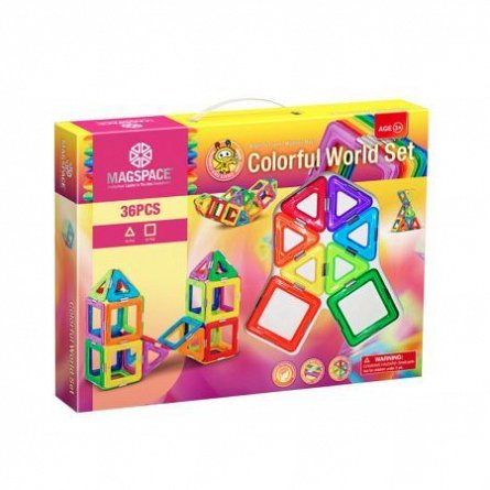 Magspace-Set constructie,magnetic,colorful worls,36pcs/set