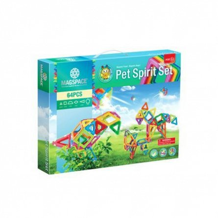 Magspace-Set constructie,magnetic,pet spirit,64pcs/set