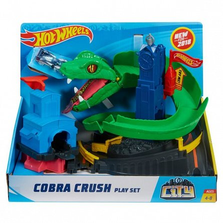 Set de joaca,Hot Wheels,Cobra Crush,City