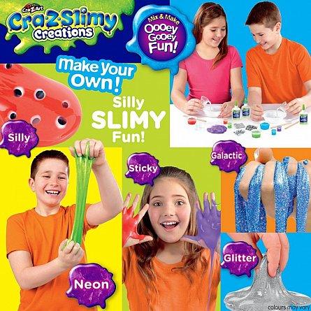 Crazslimy,set creare slime,kit mare