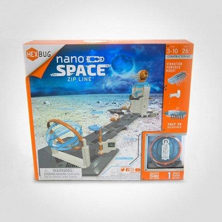 Kit montabil Hexbug Nano Space Zip Line + 2 Nano
