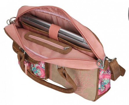 Geanta laptop 38x8x28cm,Catalina Estrada,roz