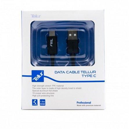 Cablu de date Type C, Tellur, 1M, negru