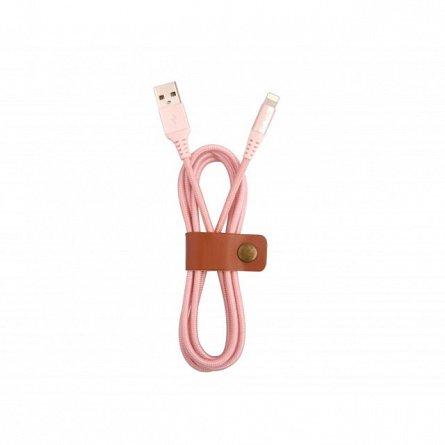 Cablu de date Lightning MFI, Tellur Kevlar, 1M, rose