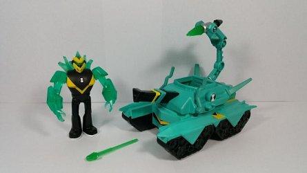 Vehicul extraterestru cu figurina,Ben 10,Cap de Diamant