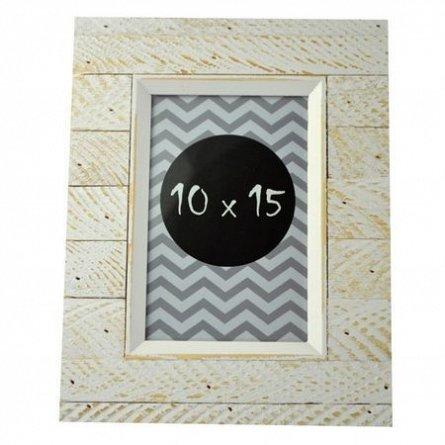 Rama foto,10x15cm,lemn,Agnes,alb