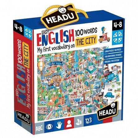 Joc educativ Headu - Engleza nivel simplu - 100 cuvinte - Orasul