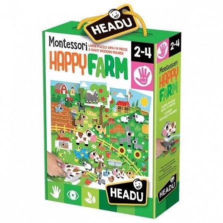 Puzzle Montessori,Ferma fericita,Headu,2-4 ani