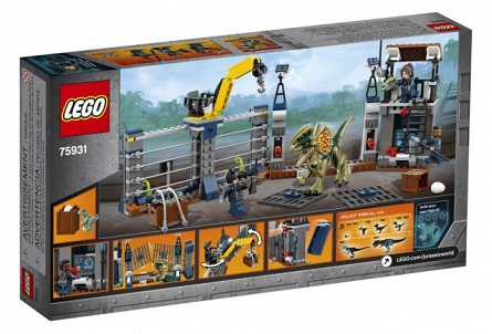 Lego-Jurassic World,Atacul avanpostului cu Dilophosaurus,7-12Y