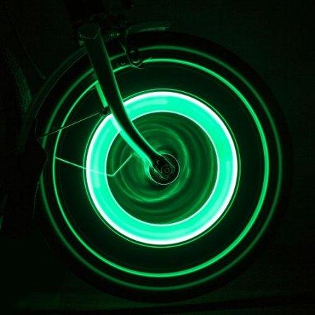 LEDuri pt bicicleta, prindere in valva - Wheelie Lights