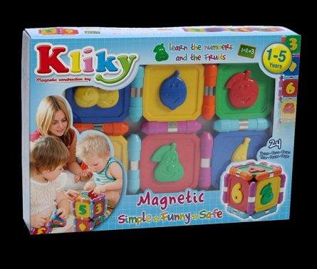 Supermag,Kliky-Set magnetic,sa invatam fructele,1-5Y