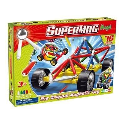Supermag,Maxi,Wheels-Set constructie,magnetic,76pcs,+3Y