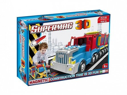 Supermag,3D-Set constructie,magnetic,Camion,126pcs,+6Y