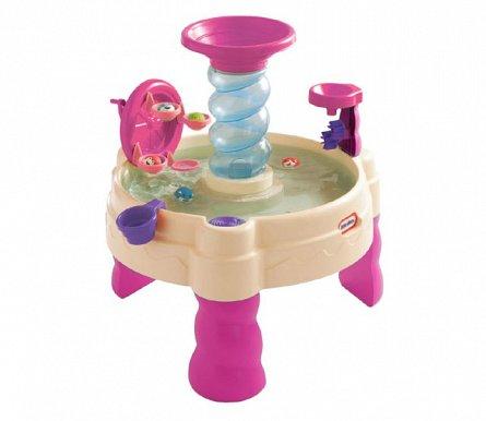 Masuta de joaca cu apa,roz,spirata,Little Tikes
