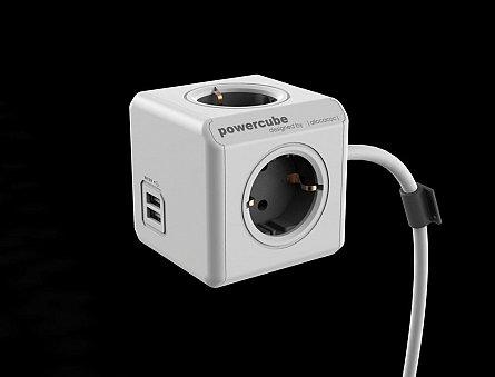 Priza compacta PowerCube Extended USB 3m