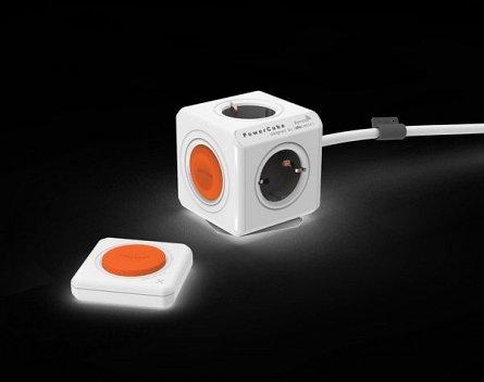 Priza compacta PowerCube Extended Remote SET 1.5m Alb
