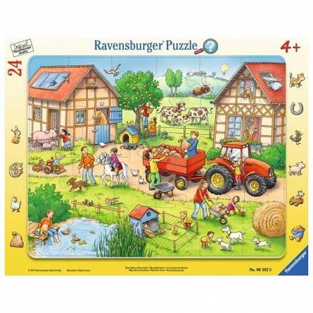 Puzzle Ravensburger - Mica mea ferma, 24 piese