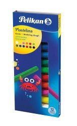Plastilina Pelikan,12culori/set