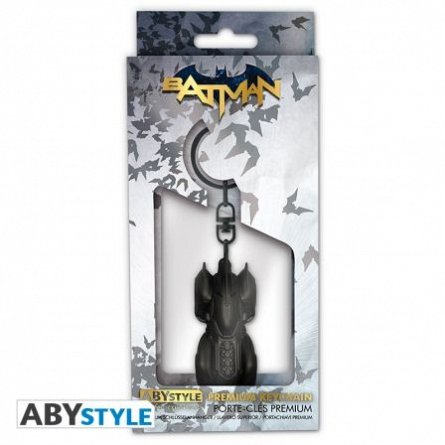 Breloc metalic 3D Premium DC Comics Batmobile, ABYstyle