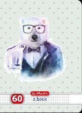 Caiet A4,60f,Hipster Animals,matematica