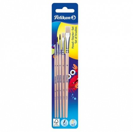 Pensule,3xrotunde,2xdrepte,5buc/set