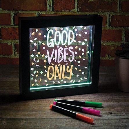 Lampa cu mesaj LED Neon mica, cu markere