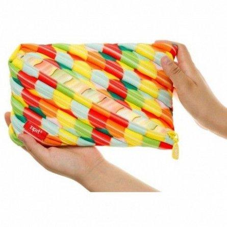 Pouch 21x2x10cm,ZipIt,Colorz Jumbo,multicolor