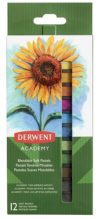 Creioane colorate soft,Derwent,Academy,12b/set