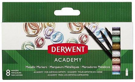 Marker pt copii,Derwent,Academy,metalic,6b/set