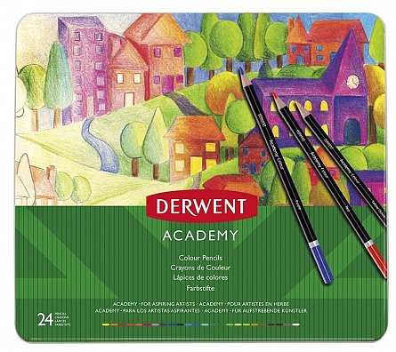 Creioane colorate,Derwent,Academy,24b/set
