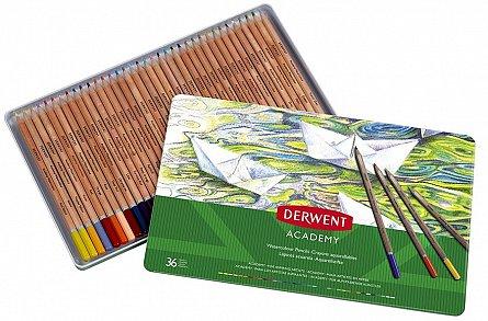 Creioane watercolour,Derwent,Academy,36b/set