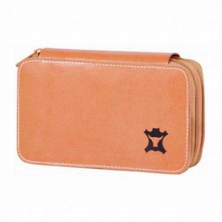 Penar 2 fermoare,Tiger,Genuine Leather