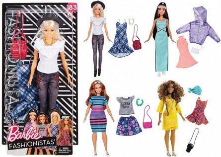 Papusa Barbie,Fashionista,cu haine de schimb,div modele