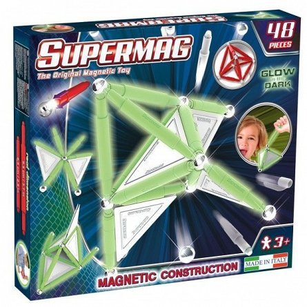 Supermag,Tags,Glow-Set constructie fosforescent,48pcs,+3Y