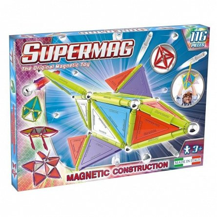 Supermag,Tags,Trendy-Set constructie,magnetic,116pcs,+3Y