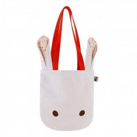 Geanta umar 21.5x2x36cm,Poppi Loves White Bunny