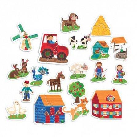 Primul meu puzzle Montessori,Ferma,Headu,2-5ani