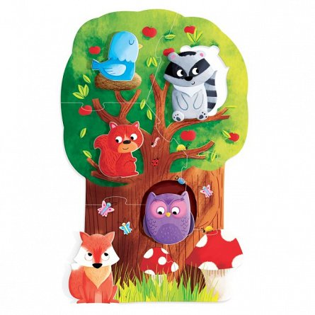 Puzzle Headu - Montessori primul meu Puzzle - Padurea
