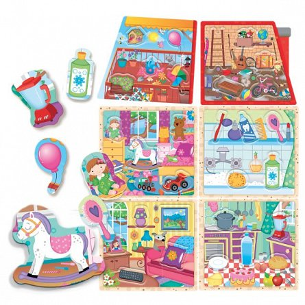 Joc educativ Headu - Montessori, Casuta mea
