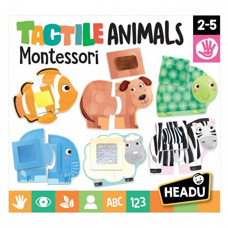 Joc educativ Headu - Montessori animale senzoriale