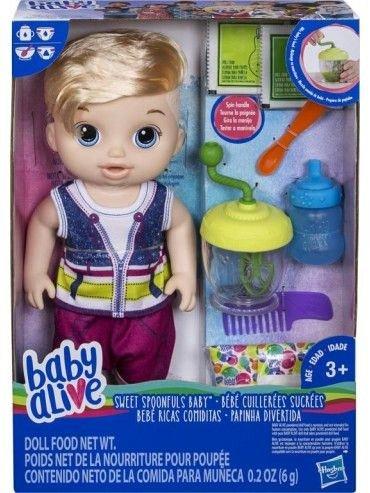Bebelus,Baby Alive,mananca,baietel,blond